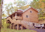 A private mountain view vacation log cabin hideaway with Lake Nantahala access. NC Mountain vacation rental.